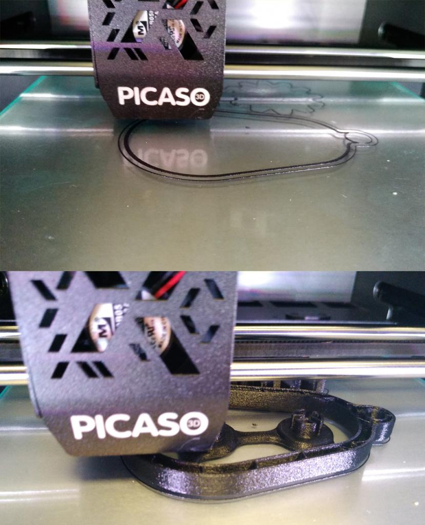 3Д печать на Picaso Designer X